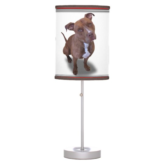 Pitbull Dog Table Lamp