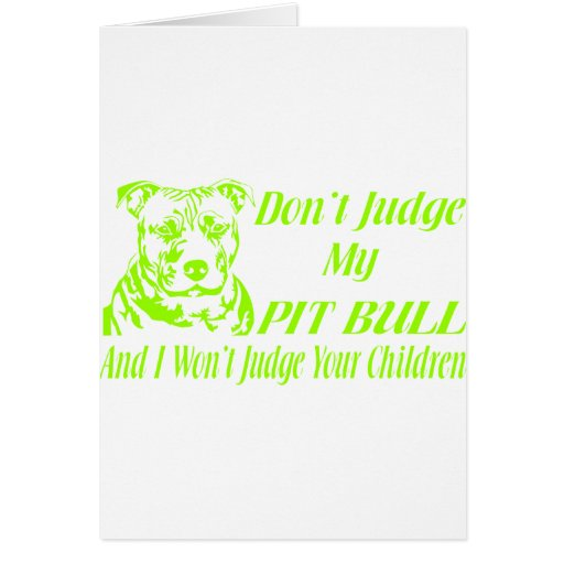 PITBULL DON'T JUDGE CARDS