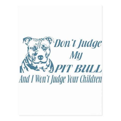 PITBULL DON'T JUDGE POST CARDS