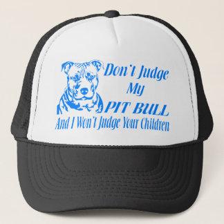 PITBULL DON'T JUDGE TRUCKER HAT