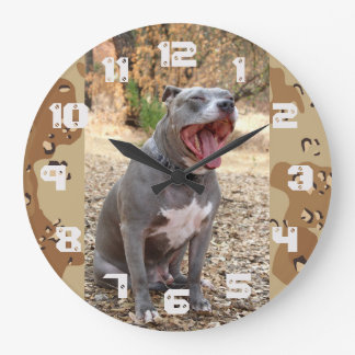 Pitbull Drill Sergeant Wall Clock