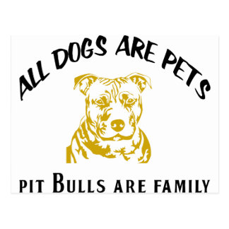 PITBULL FAMILY POST CARDS