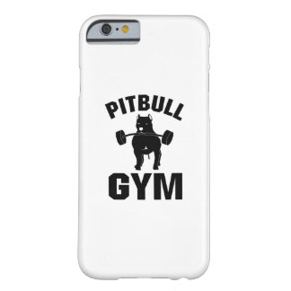 Pitbull Gym  Dog Funny Pet puppy Gifts Barely There iPhone 6 Case