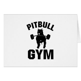 Pitbull Gym  Dog Funny Pet puppy Gifts Card