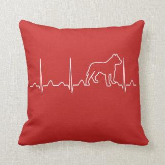 PITBULL HEARTBEAT THROW PILLOW
