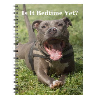 Pitbull In Grass Notebook
