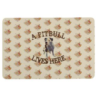Pitbull Lives Here Floor Mat
