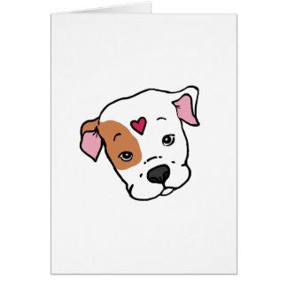 Pitbull Love Blank Card