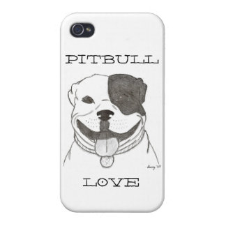 Pitbull Love iPhone 4 Savvy Case Covers For iPhone 4