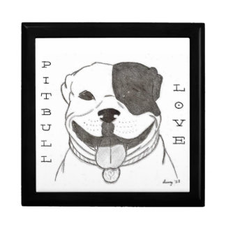 Pitbull Love Keepsake Box