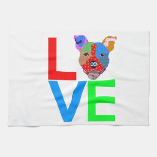 Pitbull Love Kitchen Towel