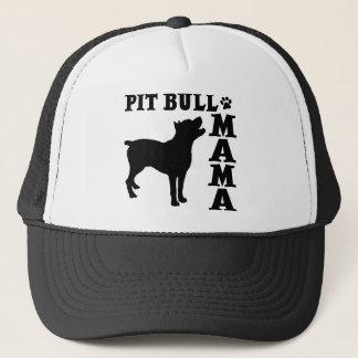 PitBull Mama, black Trucker Hat