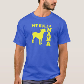 PitBull Mama, yellow T-Shirt