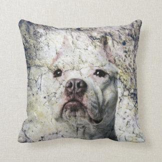 Pitbull man cave throw pillow