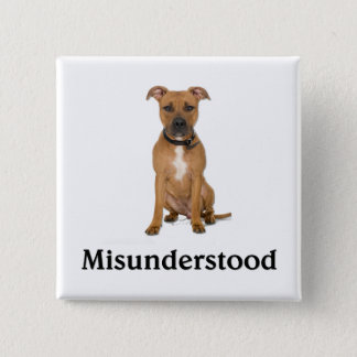 Pitbull - Misunderstood 2 Inch Square Button