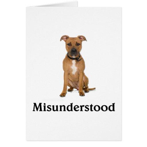 Pitbull - Misunderstood Greeting Cards