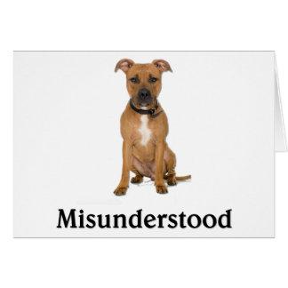Pitbull - Misunderstood Greeting Card