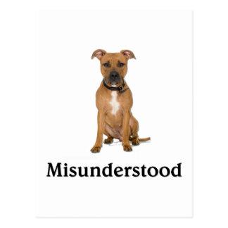 Pitbull - Misunderstood Postcard