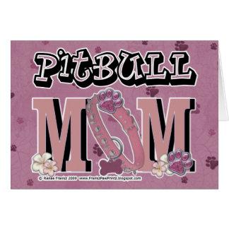Pitbull MOM Greeting Card