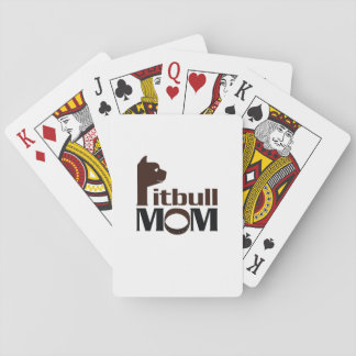 Pitbull Mom Dog Funny Gift Playing Cards