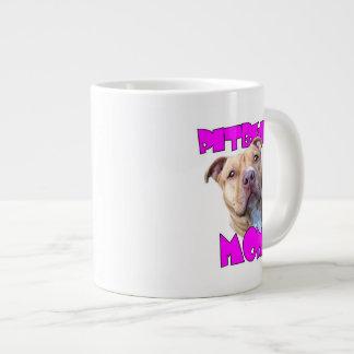 Pitbull Mom Dog Large Coffee Mug