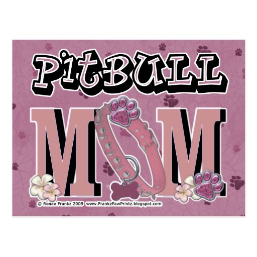 Pitbull MOM Postcard