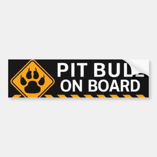 Pitbull On Board Bumper Sticker