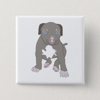 Pitbull Puppy 2 Inch Square Button