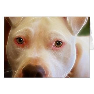 Pitbull Puppy Dog Eyes Art Photography Greeting Card