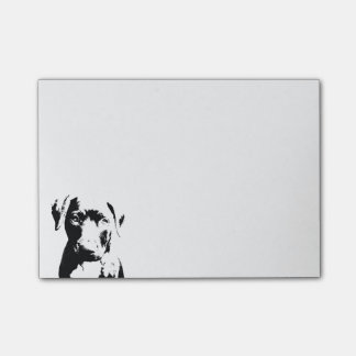 Pitbull puppy face post-it notes