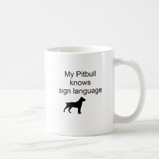 Pitbull sign Language(b) Coffee Mug