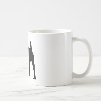 Pitbull Silhouette Coffee Mug