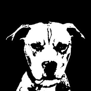 Black And White Pitbull Art & Wall Décor | Zazzle ca