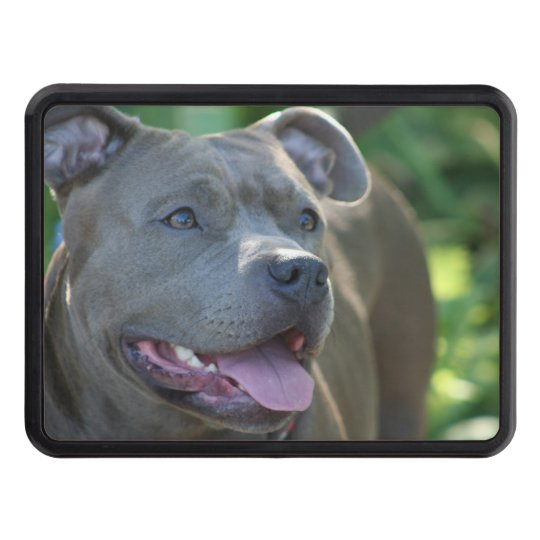 Pitbull terrier dog trailer hitch cover