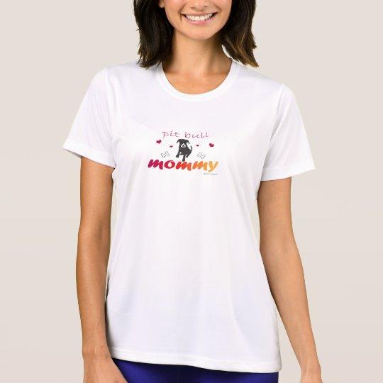 PitBullBlkWtFcMommy T-Shirt