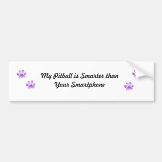Pitbulls are smarter bumper sticker