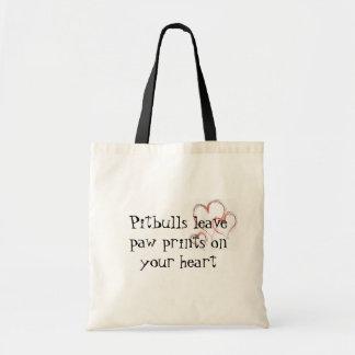 Pitbulls leave paw prints 1474 tote bag