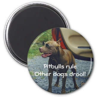 Pitbulls Rule 2 Inch Round Magnet