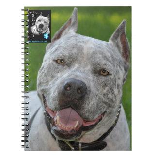 @PitBullSharky Notebook! Happy Pit Bull Smile Face Spiral Notebook