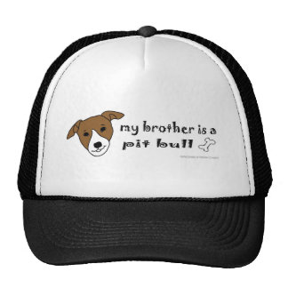 PitBullTanWhiteBrother Trucker Hat