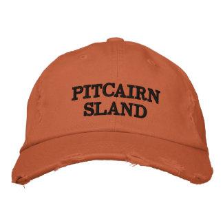 Pitcairn Island Orange Distressed Hat