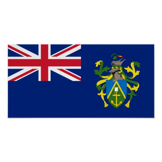Pitcairn Islands Flag Poster