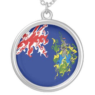 Pitcairn Islands Gnarly Flag Custom Necklace