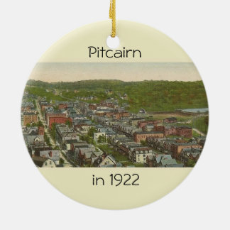 Pitcairn-Ornament-2 sided-photo-1922-other-2007 Ceramic Ornament
