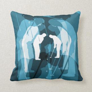 Pitch & Putt Abstract Golf Theme Pillow 2