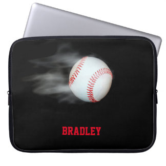 Pitch The Ball Baseball Team Personalized Laptop Sleeve