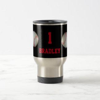 Pitch The Ball Baseball Team Player Personalized Travel Mug