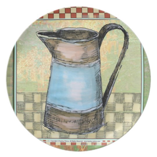 Pitcher - Melamine Plate