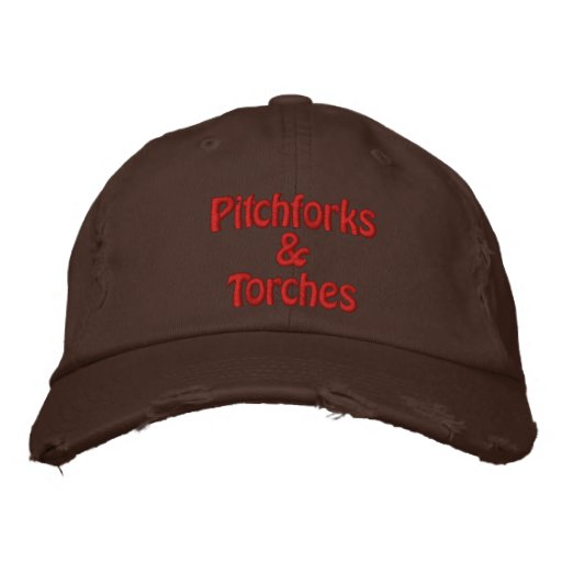 Pitchforks & Torches Embroidered Hats