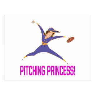 Pitching Princess Postcard